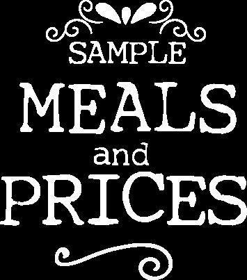 przykładowe dania i ceny